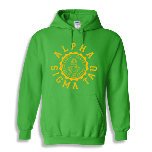 Alpha Sigma Tau World Famous Seal Crest Hoodie