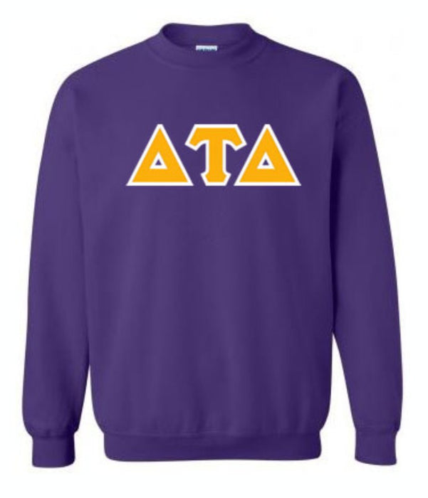 Delta Tau Delta Classic Colors Sewn-On Letter Crewneck