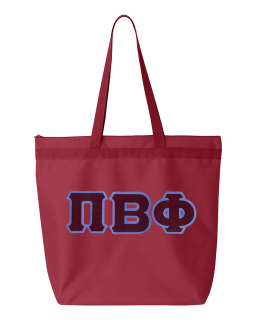 Pi Beta Phi Greek Lettered Game Day Tote