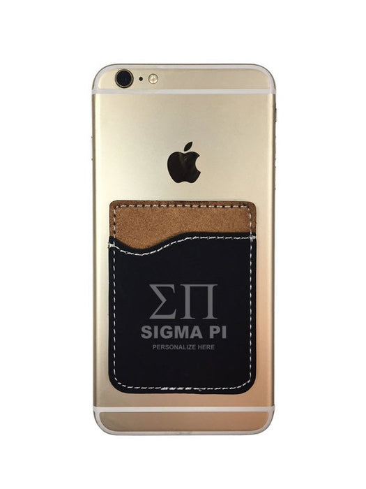 Sigma Pi Engraved Phone Wallet