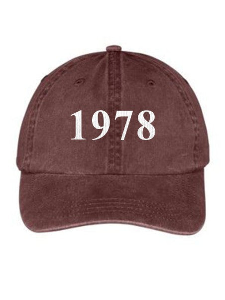 Sigma Alpha Year Established Embroidered Hat