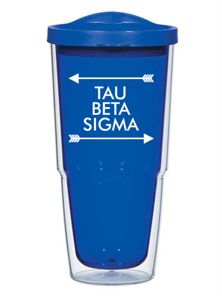 Tau Beta Sigma Arrow Top Bottom 24oz Tumbler with Lid