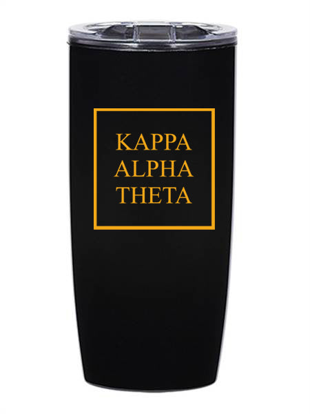 Kappa Alpha Theta Box Stacked 19 oz Everest Tumbler