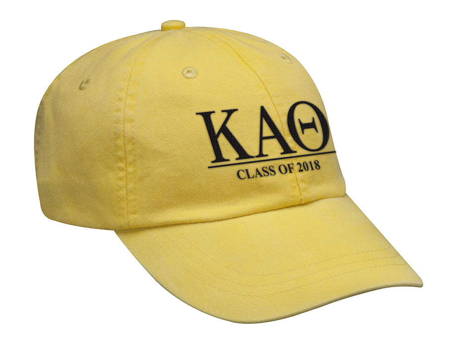 Kappa Alpha Theta Embroidered Hat with Custom Text
