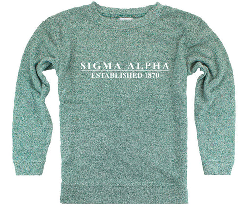 Sigma Alpha Year Established Cozy Sweater