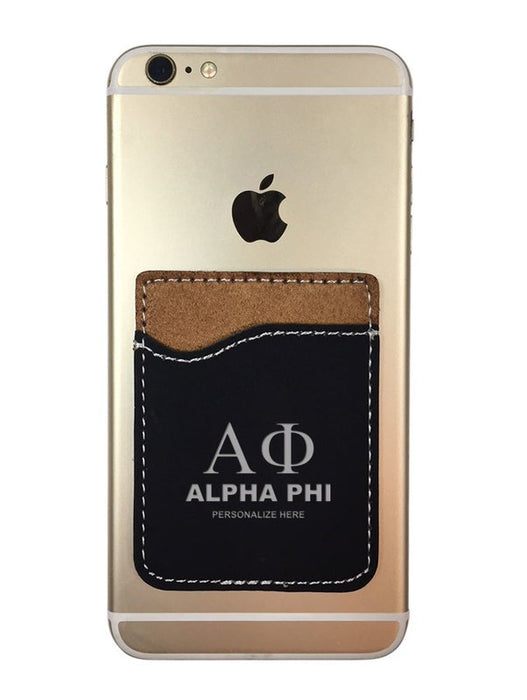 Alpha Phi Engraved Phone Wallet
