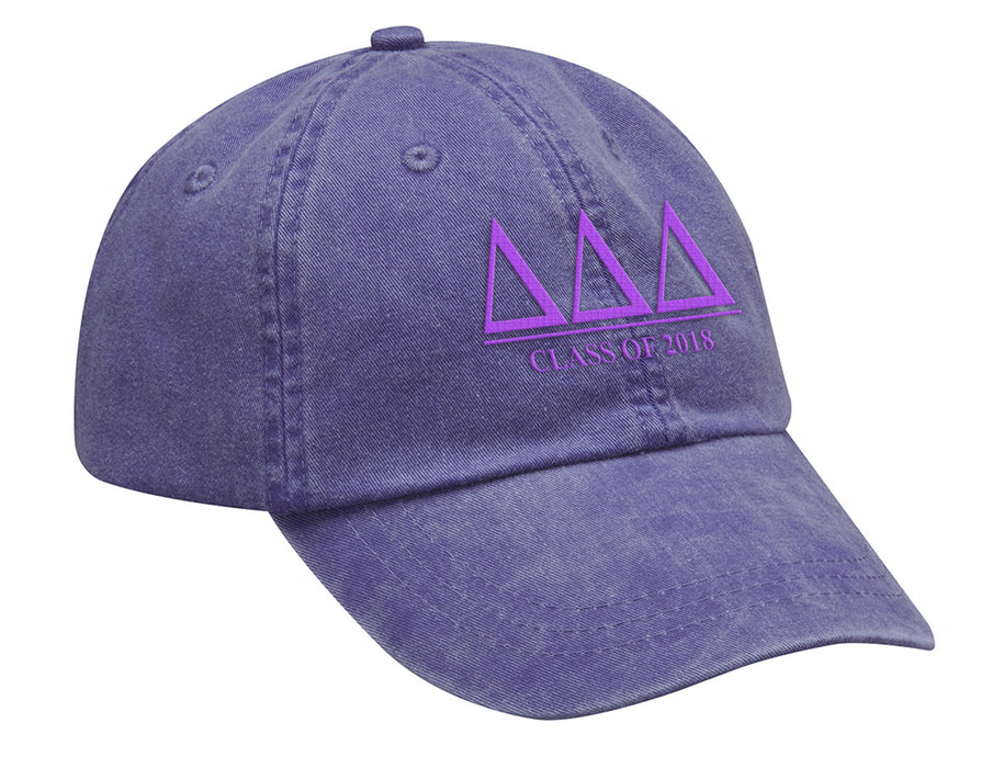 Delta Delta Delta Embroidered Hat with Custom Text