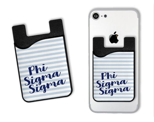 Phi Sigma Sigma Sorority Stripes Caddy Phone Wallet