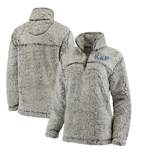 Kappa Delta Rho Embroidered Sherpa Quarter Zip Pullover