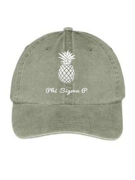 Phi Sigma Pi Pineapple Embroidered Hat