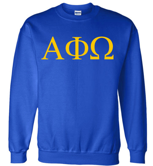 Alpha Phi Omega World Famous Lettered Crewneck Sweatshirt