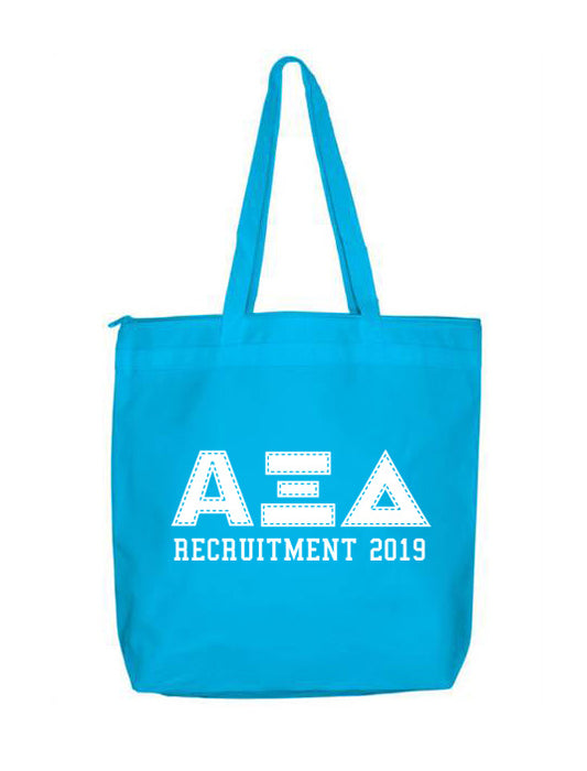 Alpha Xi Delta Collegiate Letters Event Tote Bag