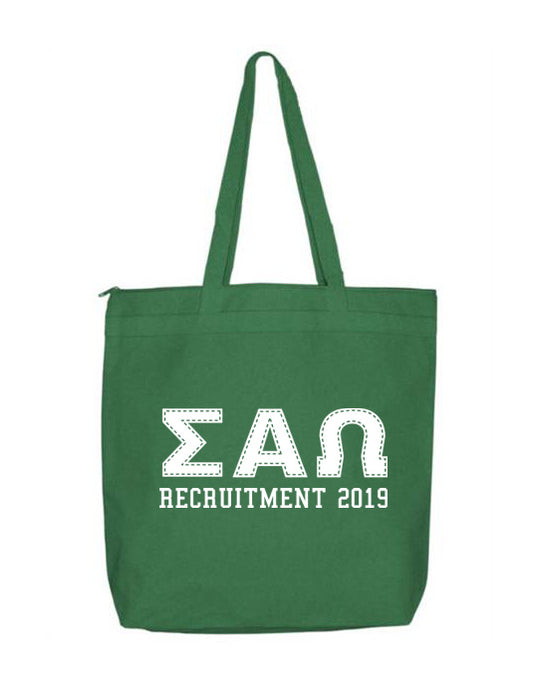 Sigma Alpha Omega Collegiate Letters Event Tote Bag