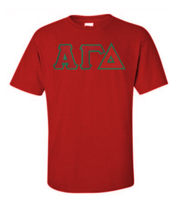 Alpha Gamma Delta Lettered T Shirt