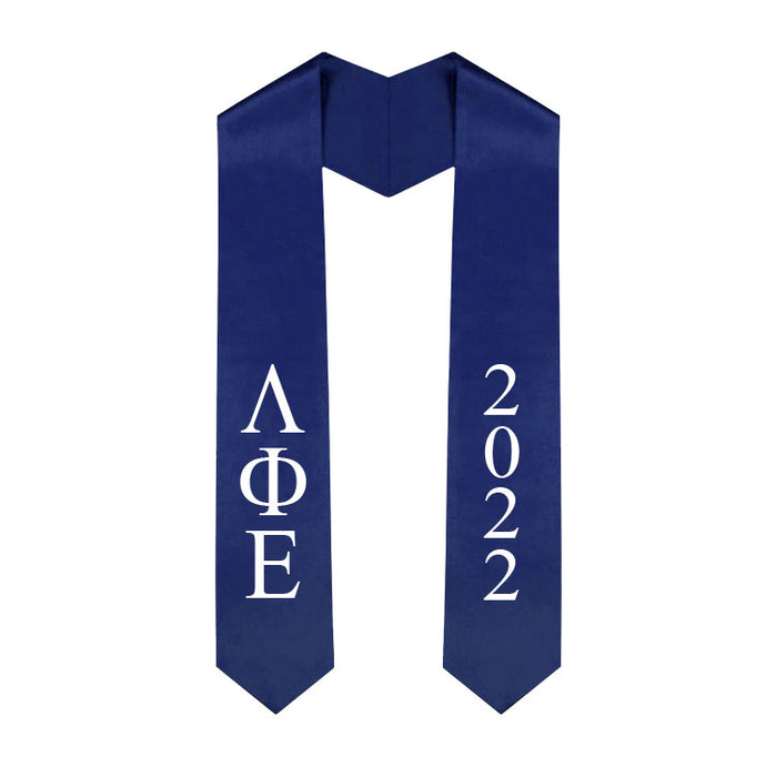 Lambda Phi Epsilon Vertical Grad Stole with Letters & Year