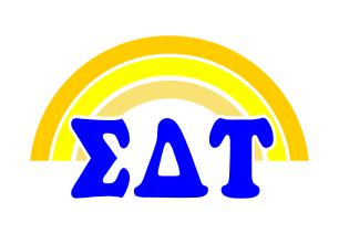 Sigma Delta Tau End of The Rainbow Sorority Decal