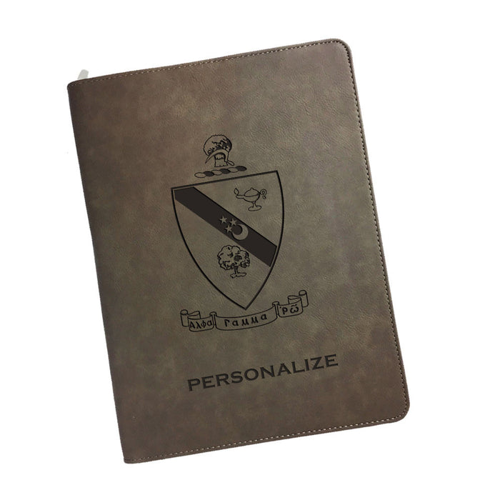 Alpha Gamma Rho Leatherette Portfolio with Notepad