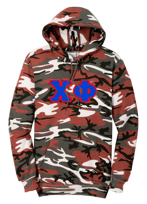 Chi Phi Camo Hooded Pullover Sweatshirt
