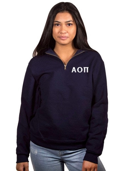 Alpha Omicron Pi Embroidered Quarter Zip