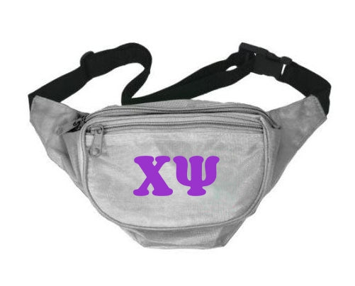 Chi Psi Fanny Pack Letters Layered Fanny Pack