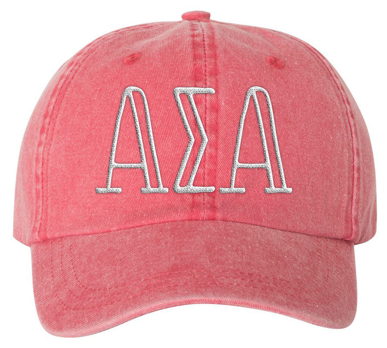 Alpha Sigma Alpha Sorority Greek Carson Embroidered Hat