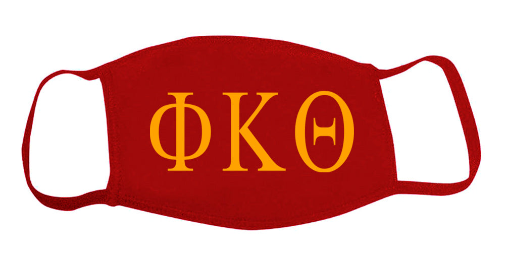 Phi Kappa Theta Face Mask With Big Greek Letters