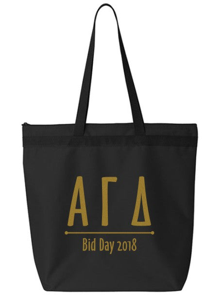 Alpha Gamma Delta Oz Letters Event Tote Bag