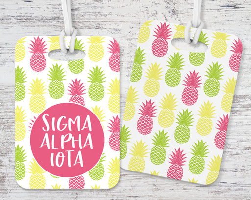 Sigma Alpha Iota Pineapple Luggage Tag