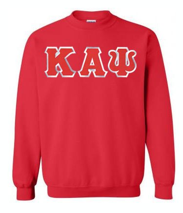 Kappa Alpha Psi Crewneck Sweatshirt with Sewn-On Letters