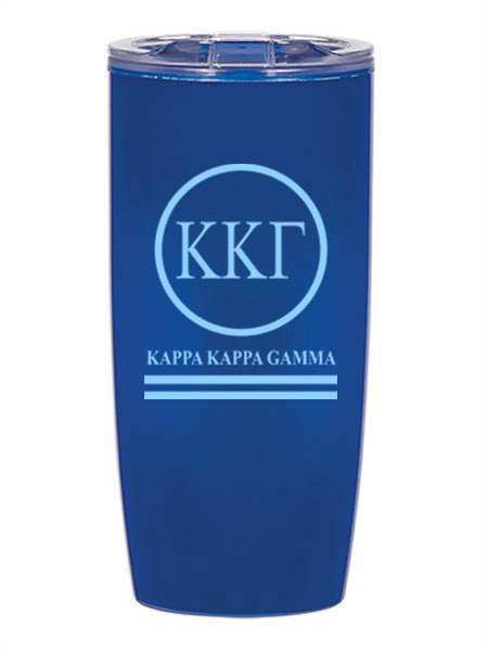 Kappa Kappa Gamma Circle Stripes 19 oz Everest Tumbler