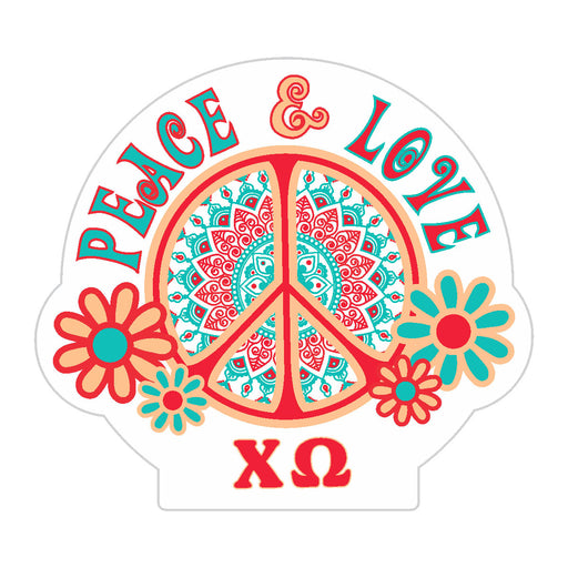 Sorority Peace Sticker