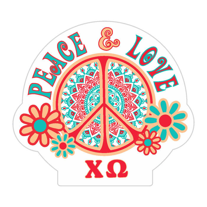 Chi Omega Peace Sticker