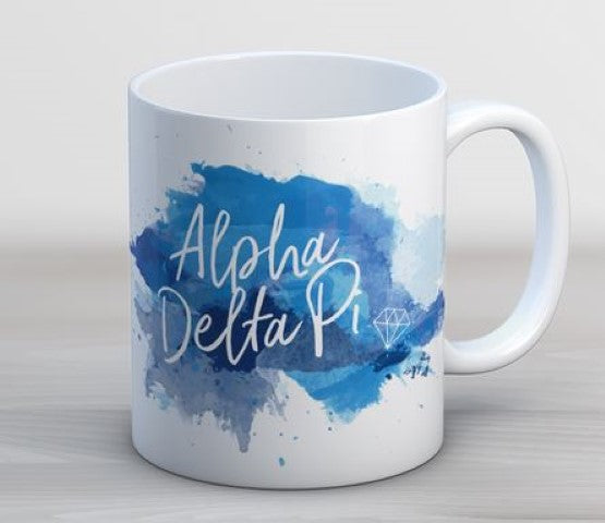 Alpha Delta Pi Watercolor Script Coffee Mug
