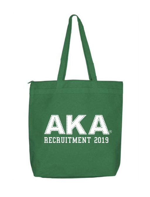 Alpha Kappa Alpha Collegiate Letters Event Tote Bag