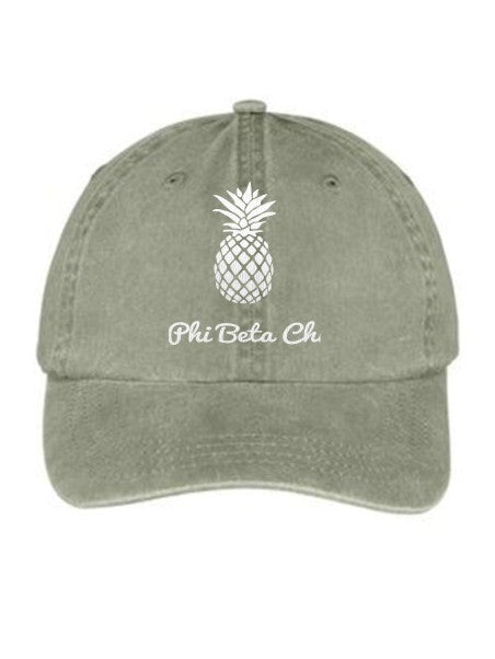 Phi Beta Chi Pineapple Embroidered Hat