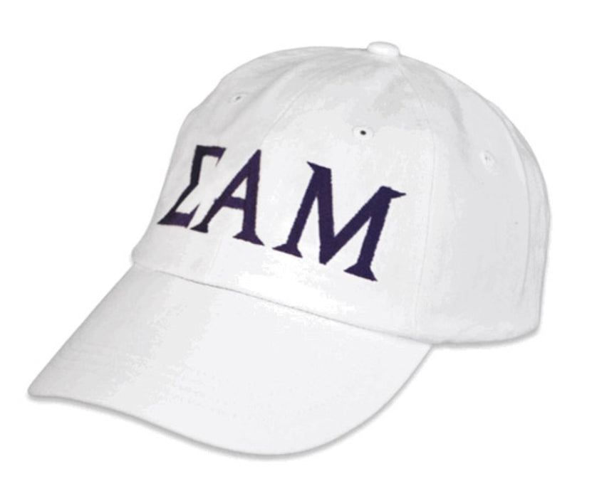 Sigma Alpha Mu Greek Letter Embroidered Hat