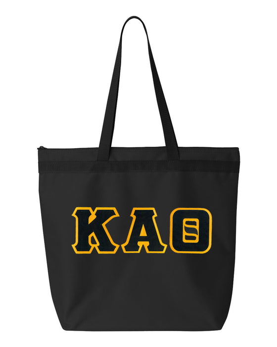 Kappa Alpha Theta Greek Lettered Game Day Tote