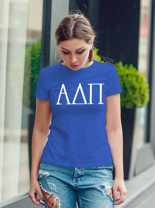 Alpha Delta Pi University Letter T-Shirt