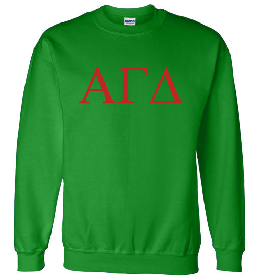 Alpha Gamma Delta World Famous Lettered Crewneck Sweatshirt