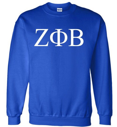 Zeta Phi Beta World Famous Lettered Crewneck Sweatshirt