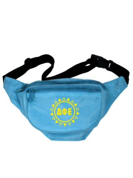 Delta Phi Epsilon Sun Triangles Fanny Pack