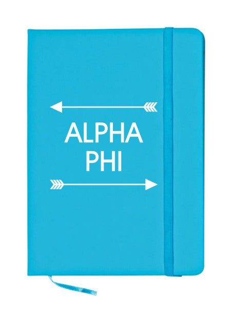 Alpha Phi Arrows Notebook