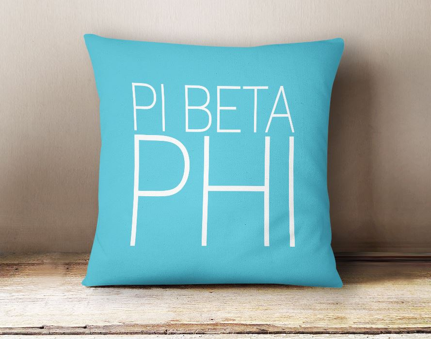 Pi Beta Phi Simple Text Throw Pillow