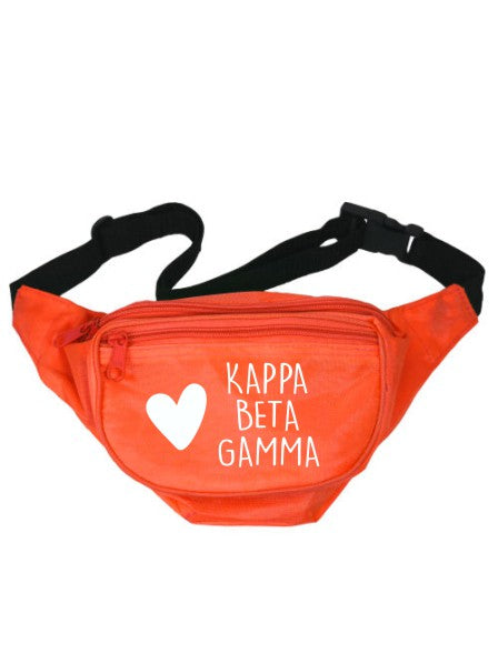 Kappa Beta Gamma Heart Fanny Pack