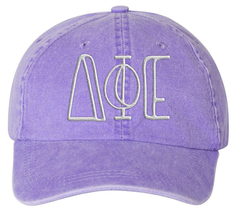 Delta Phi Epsilon Sorority Greek Carson Embroidered Hat