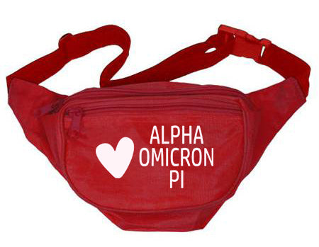 Alpha Omicron Pi Heart Fanny Pack