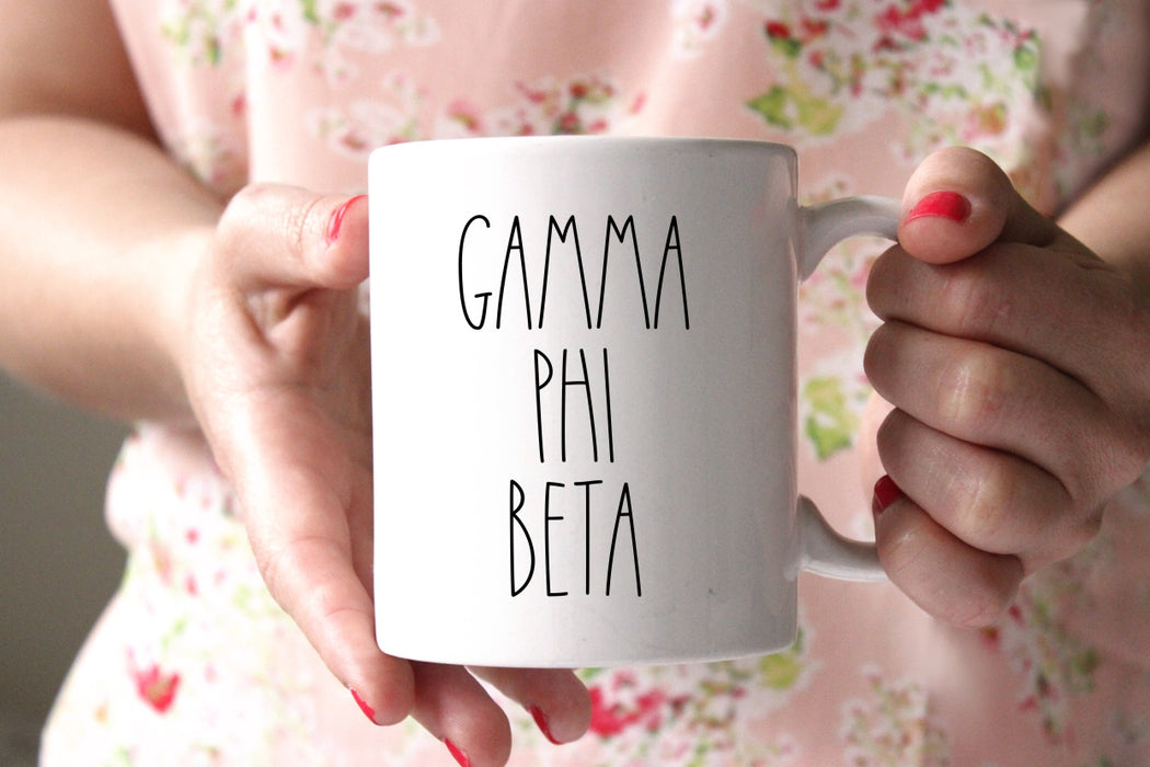 Gamma Phi Beta Modern Coffee Mug