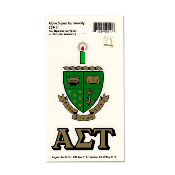 Alpha Sigma Tau Crest Decals Crest Decal