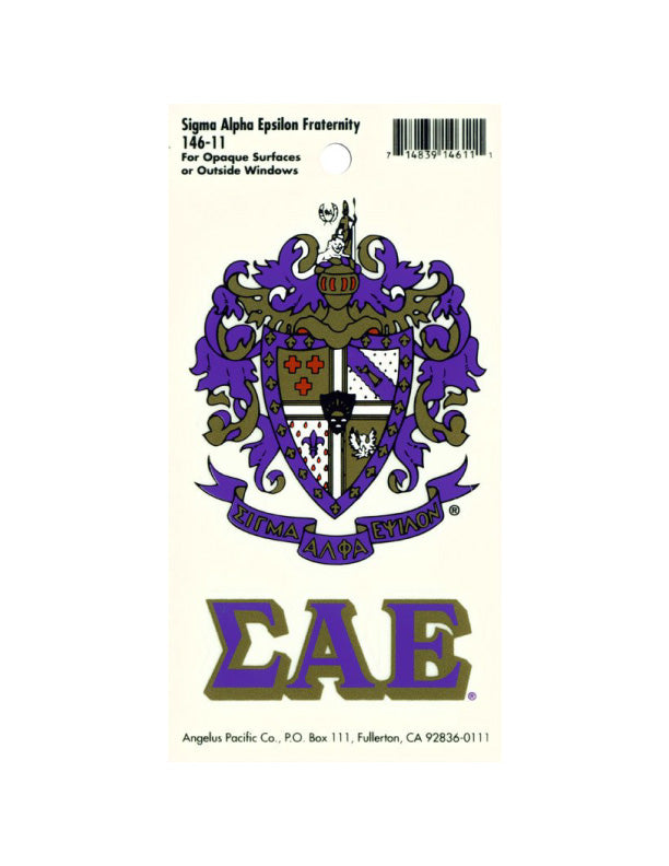 Sigma Alpha Epsilon Crest Decal