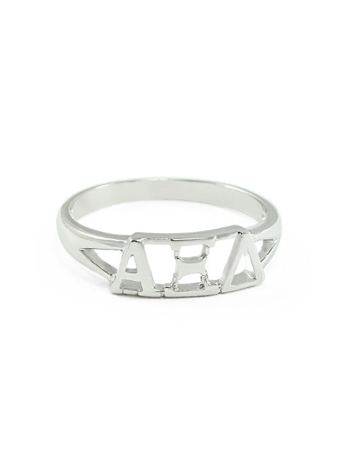 Alpha Xi Delta Sterling Silver Ring